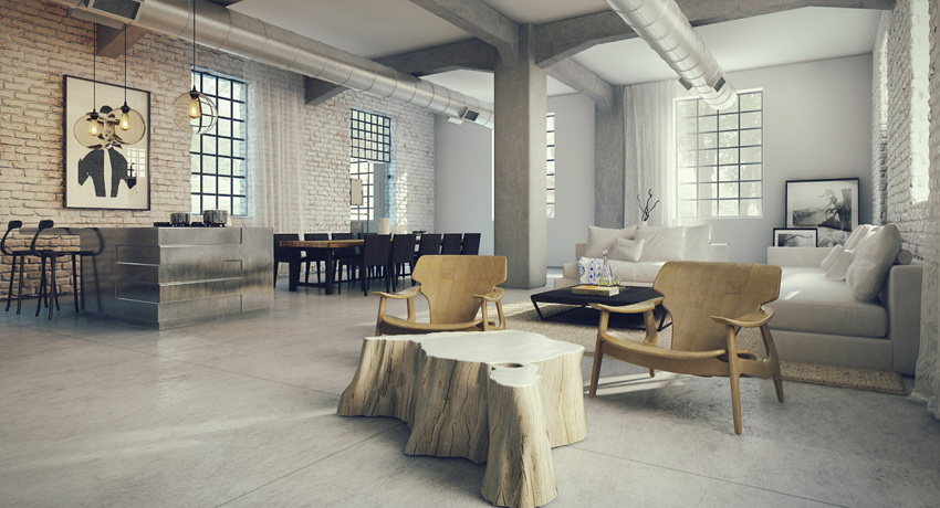 open plan loft design interior design ideas