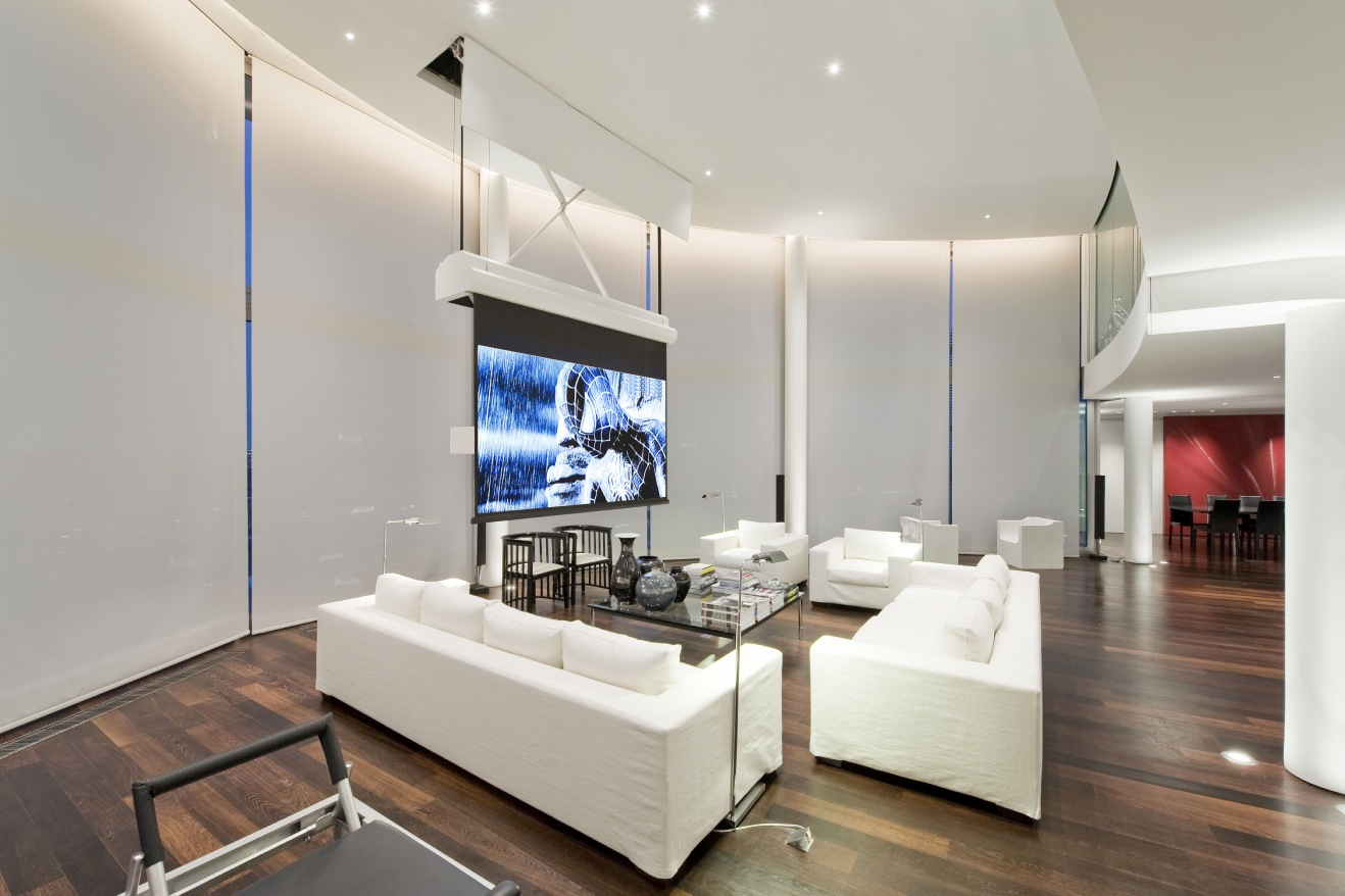 Contemporary White Lounge Interior Design Ideas