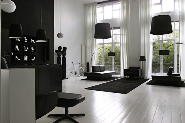 black white statement decor