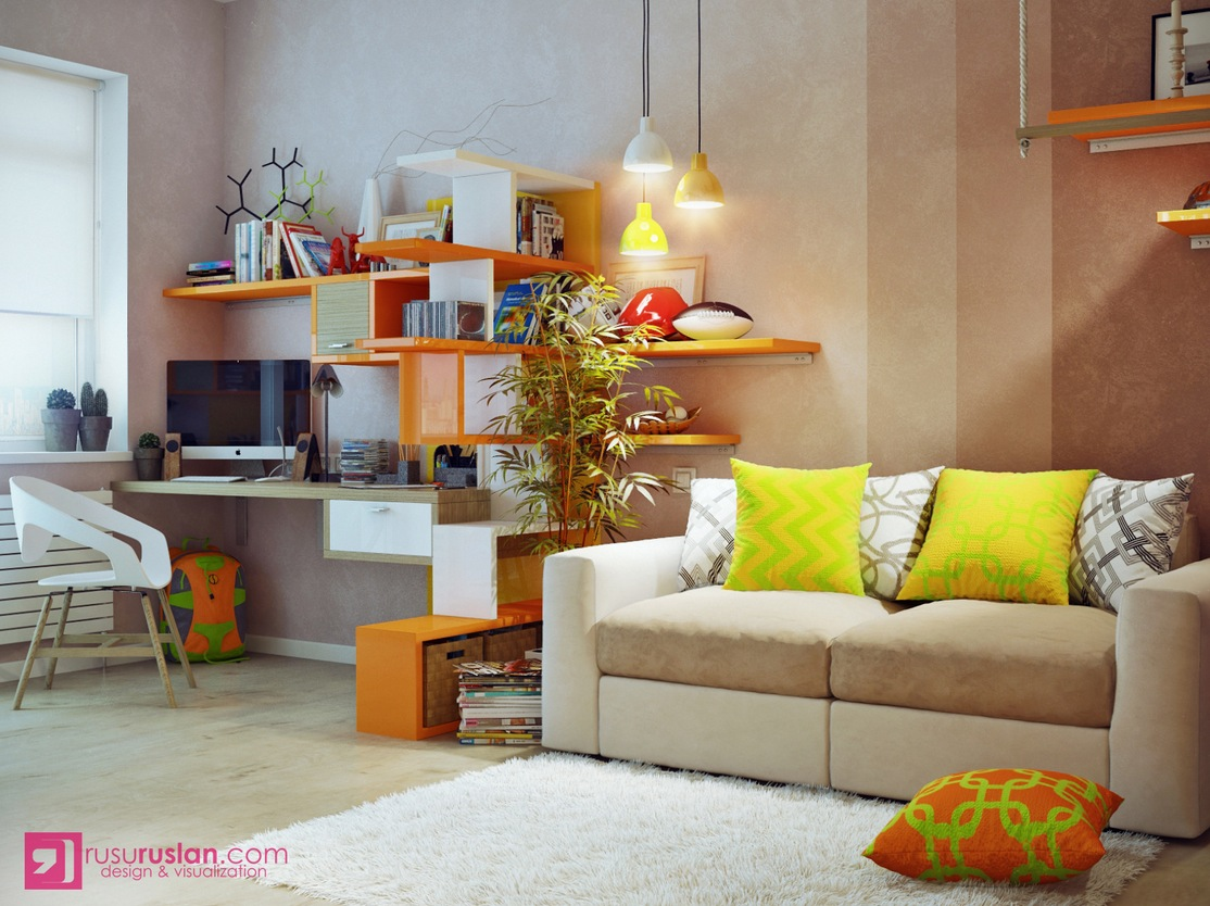 Colorful room divider interior design ideas for Room dividers kids