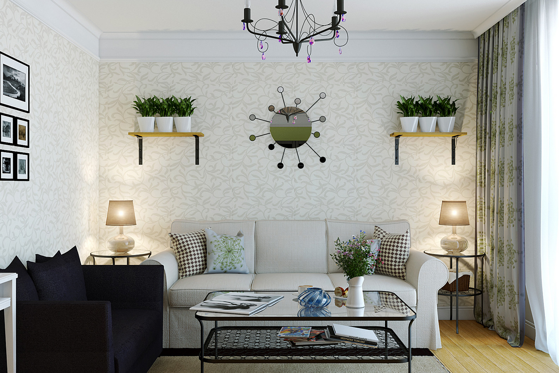 23 luscious living rooms for Pictures of decorated living rooms