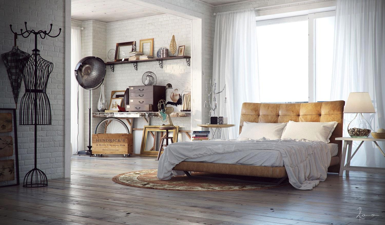 Industrial bedrooms with divine detail for Accessoires decoration