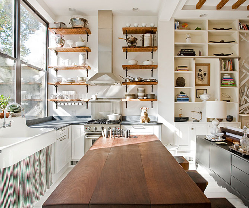 Open kitchen shelving interior design ideas for Open shelves in kitchen ideas