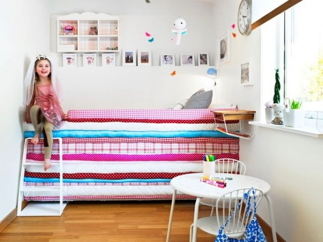 This soft and towering mattress stack is fit for a princess–and a pea!