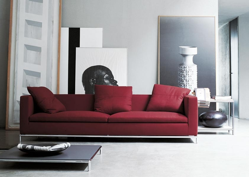 red sofa interior design ideas