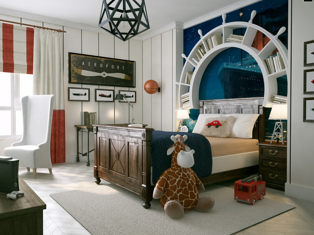 Travel Themed Kids Room Interior Design Ideas