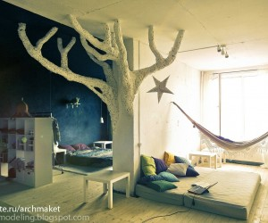 What's more whimsical than bringing the tree house indoors?