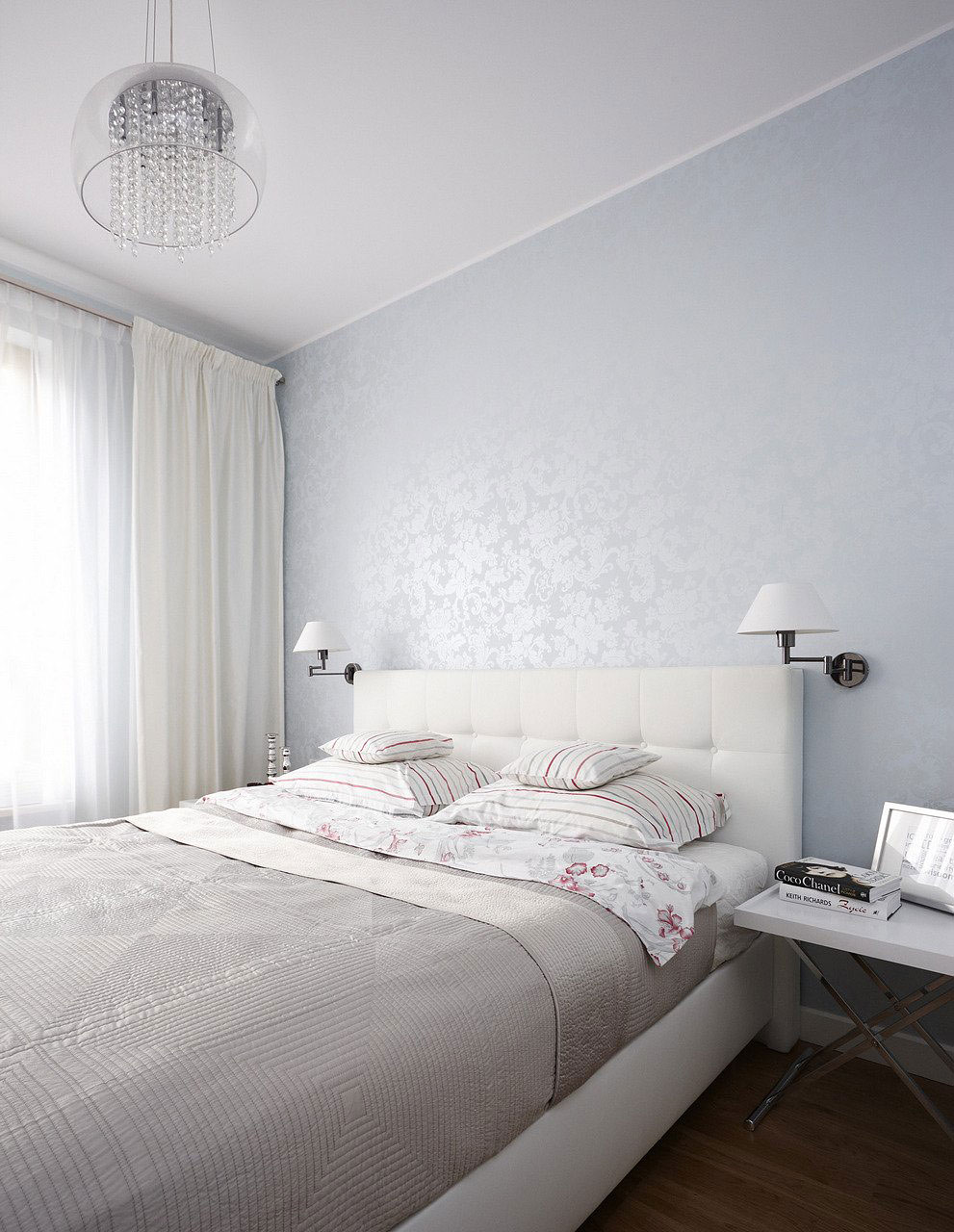 Vivacious polish apartment for Bedroom designs white