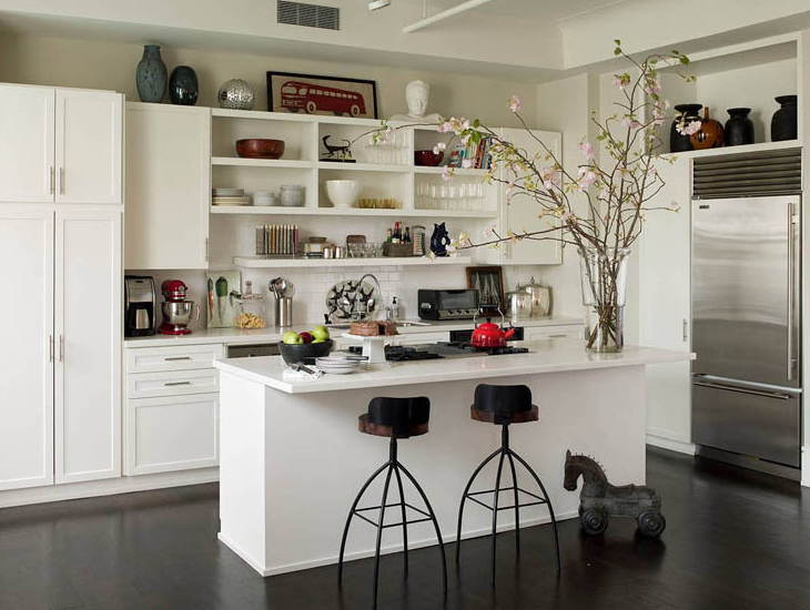 Open kitchen shelves inspiration for Nyc apartment kitchen ideas