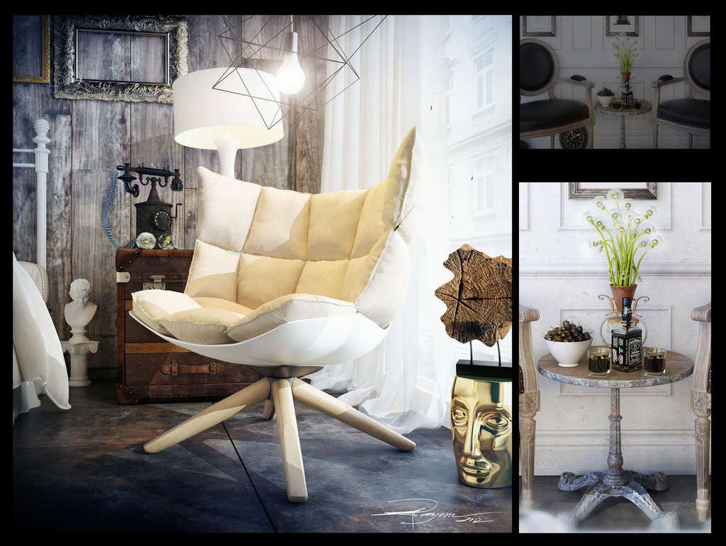 Artists Studios in Modern Eclectic Vintage Styles