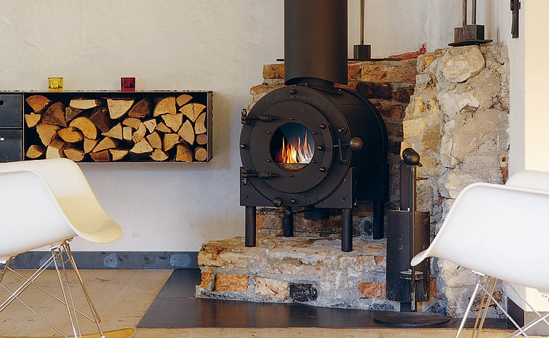 Wood burning stove | Interior Design Ideas.