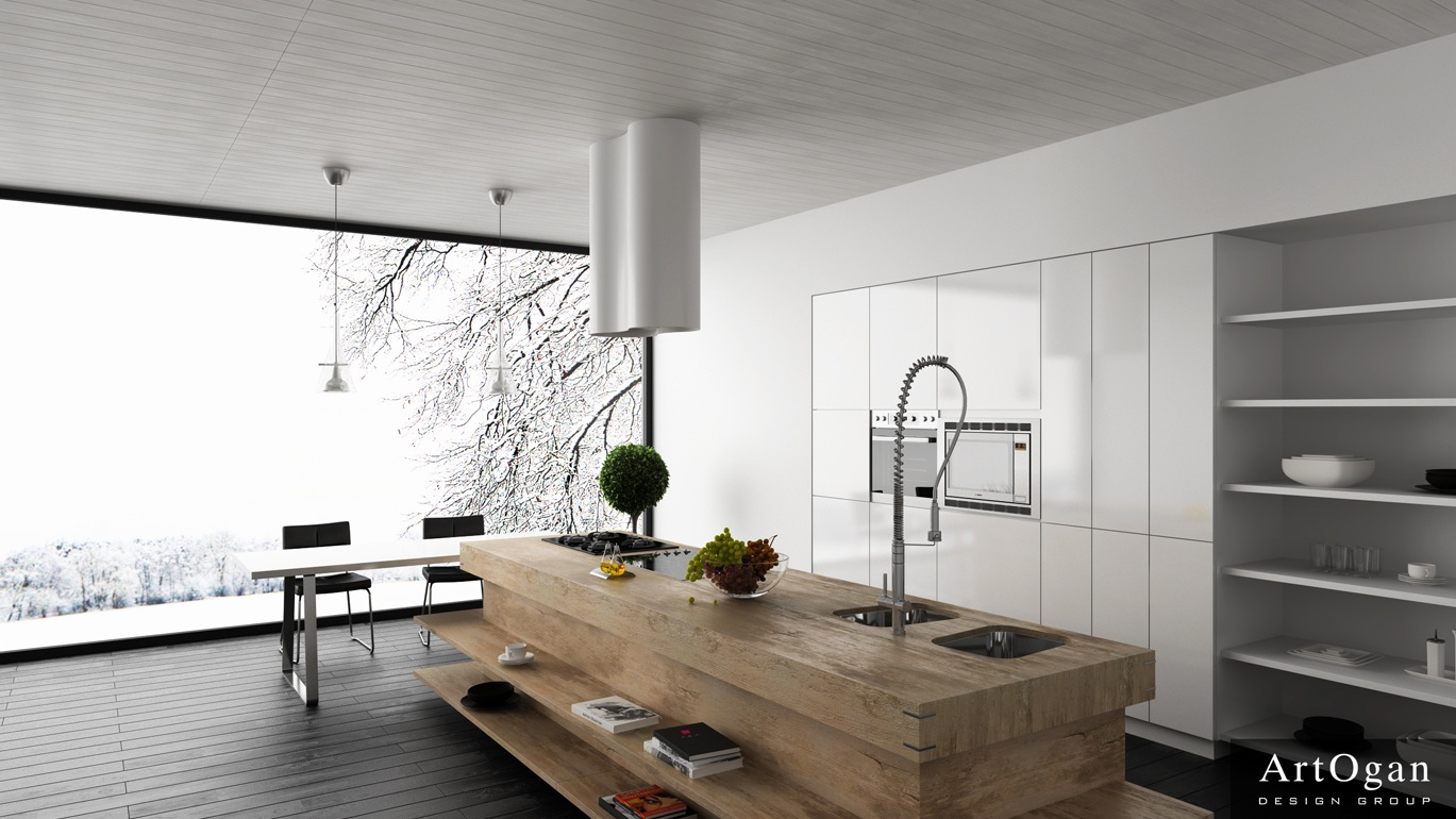Unexpected twists for modern kitchens for Modern kitchen designs with island