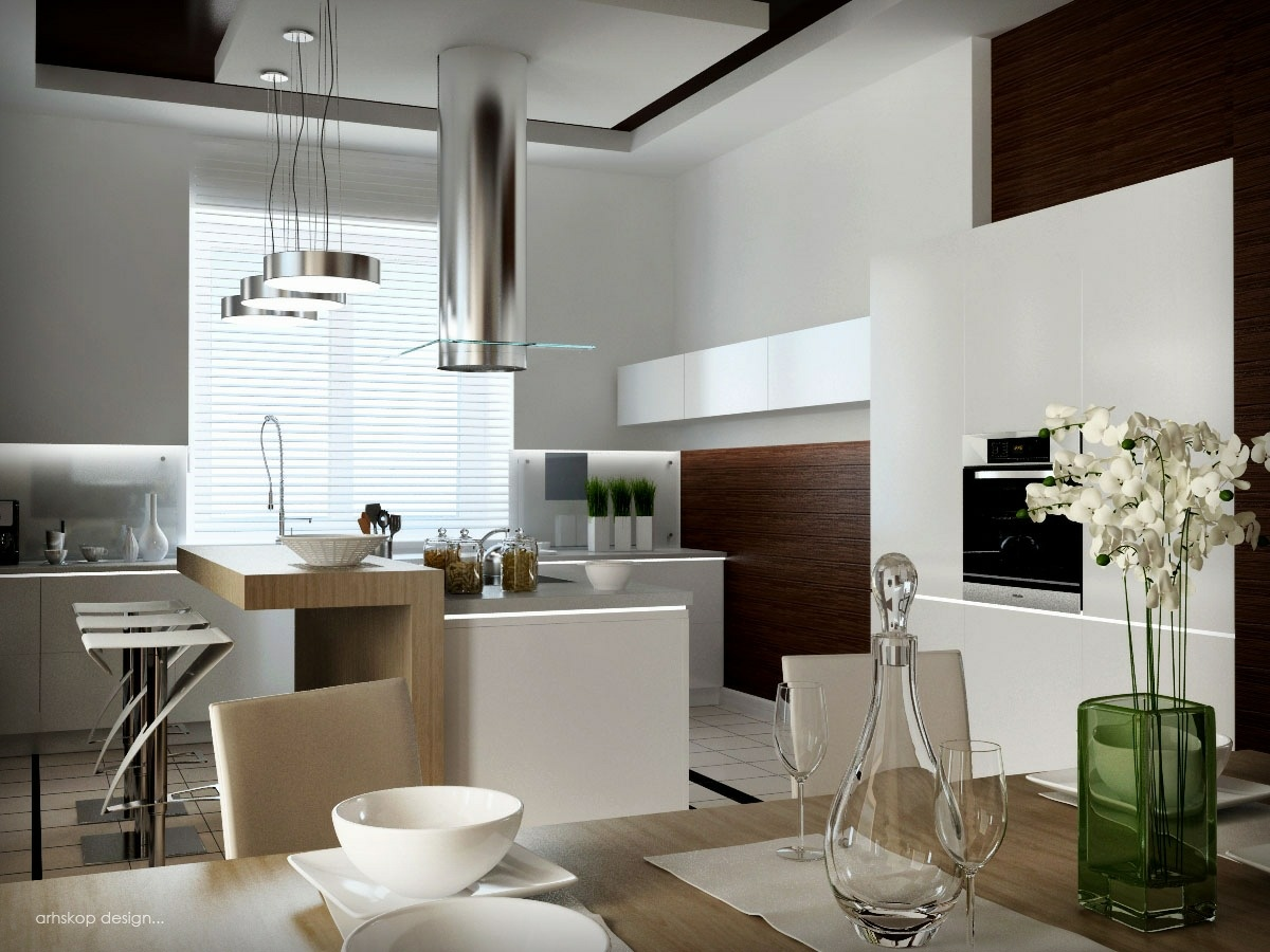 Unexpected twists for modern kitchens for Homey kitchen designs