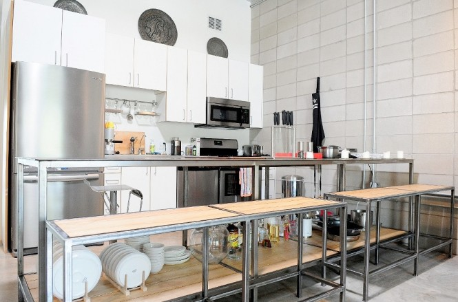 White lofts for Cuisine loft