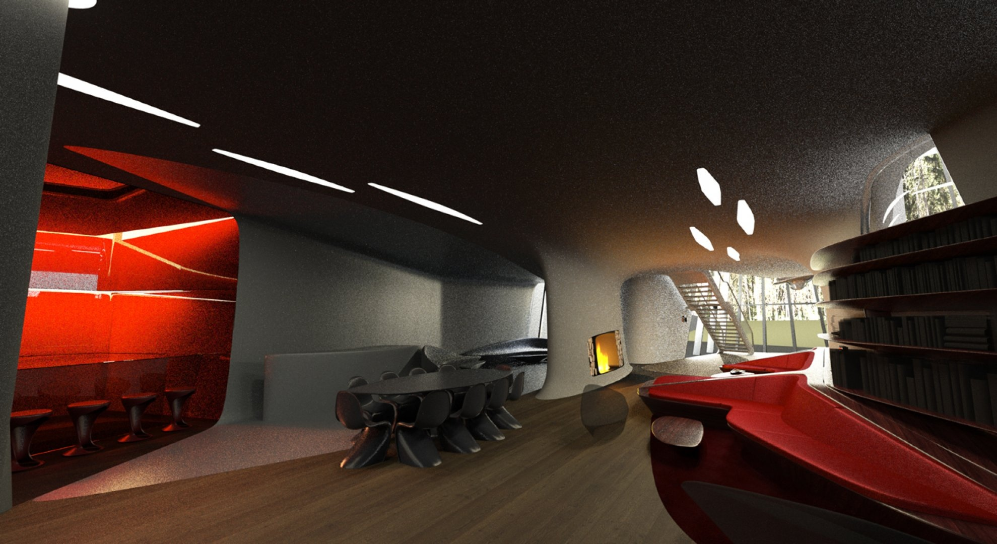 Space age interior interior design ideas for 4 space interior design