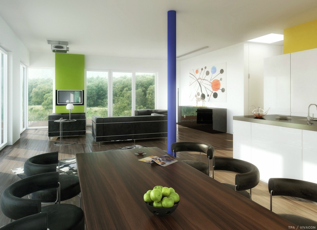 green interior design images