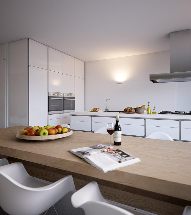 A light bright and beautiful home for White gloss kitchen wall cupboards