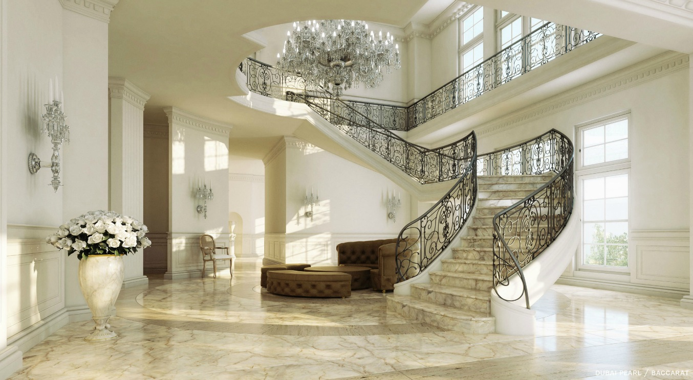 Grand sweeping staircase interior design ideas - Home entrance stairs design ...