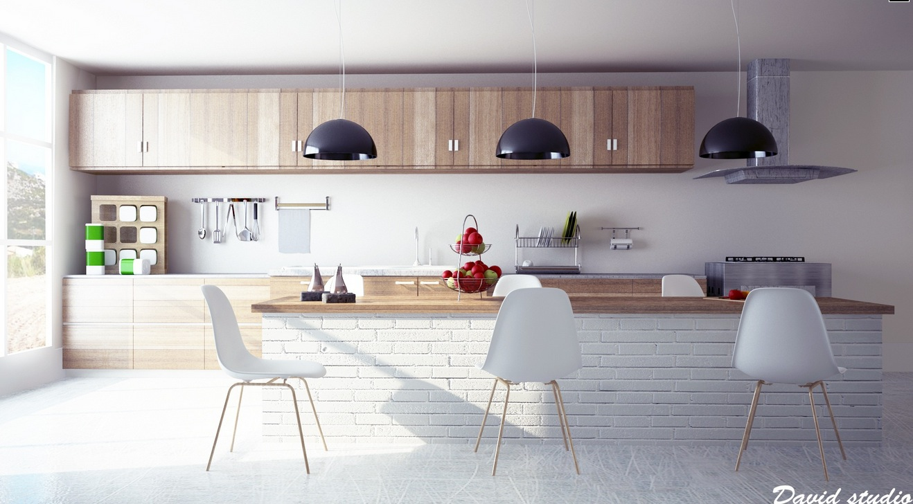 Unexpected twists for modern kitchens for Modern wood kitchen cabinets