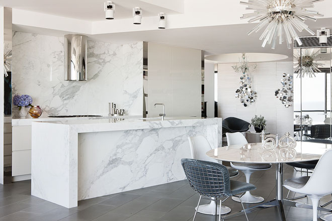 Marble kitchen island | Interior Design Ideas.