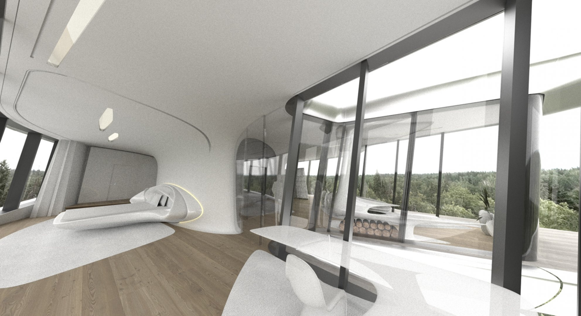 Space age bedroom design interior design ideas for Home bedroom image
