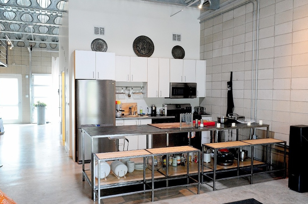 Amazing White Industrial Kitchen