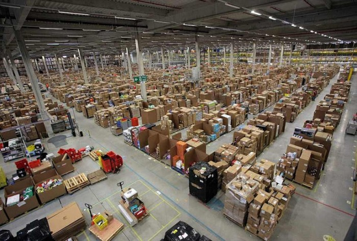 amazon warehouse interior