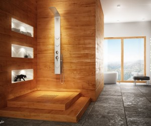 Modern bathroom with natural elements