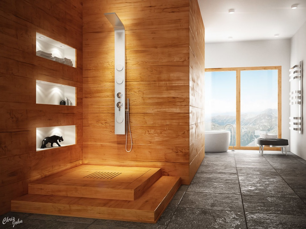 Modern bathrooms with spa like appeal for Modern shower design
