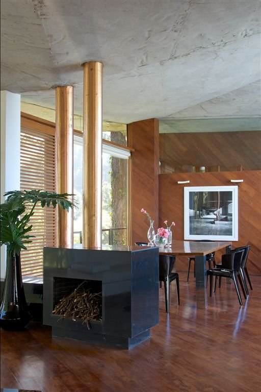 Wood paneled walls