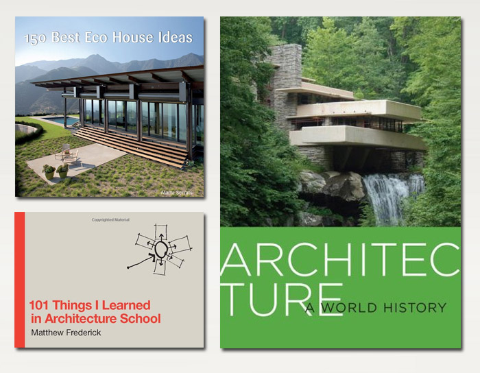 Architecture Books:  Inexpensive, old school, inspiring. You can hardly go wrong them.