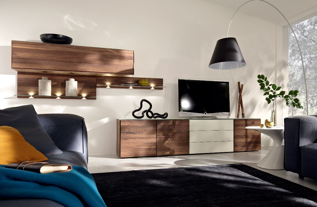 wooden finish wall unit combinations from hlsta - Furniture Wall Units Designs