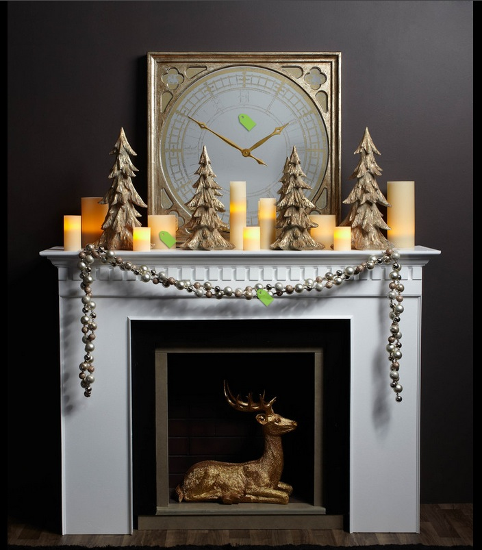 Decorating Ideas > Christmas Mantel Decor Inspiration ~ 053300_Holiday Decorating Ideas Mantel