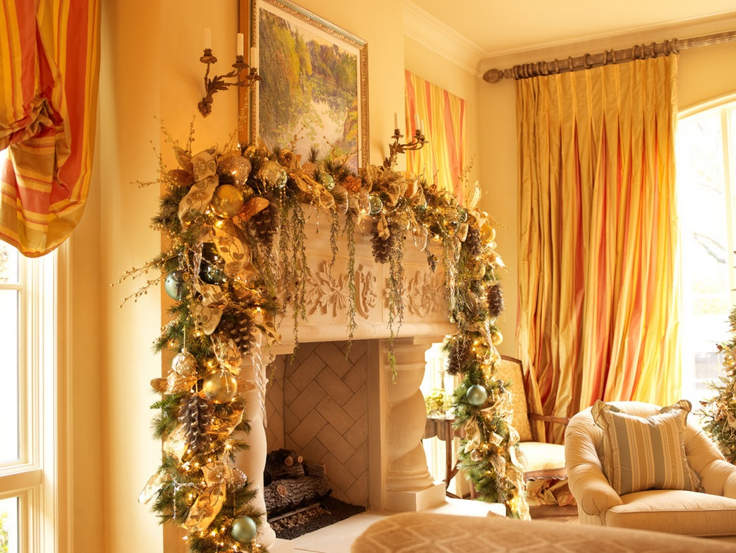 Christmas mantel decorations interior design ideas for Christmas mantel design ideas