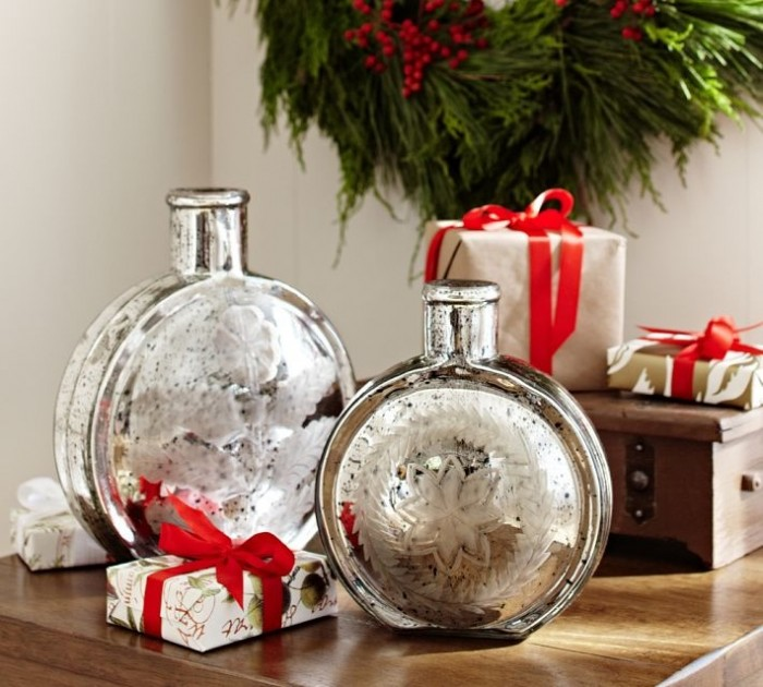 christmas silver decor