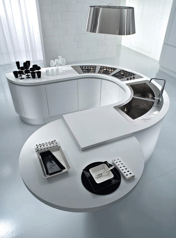 circular kitchen island