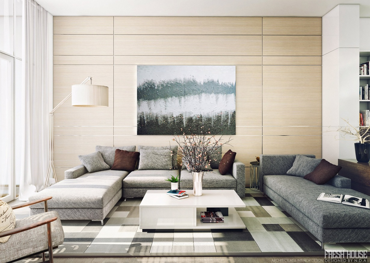 Contemporary Living Room Decor light-filled contemporary living rooms