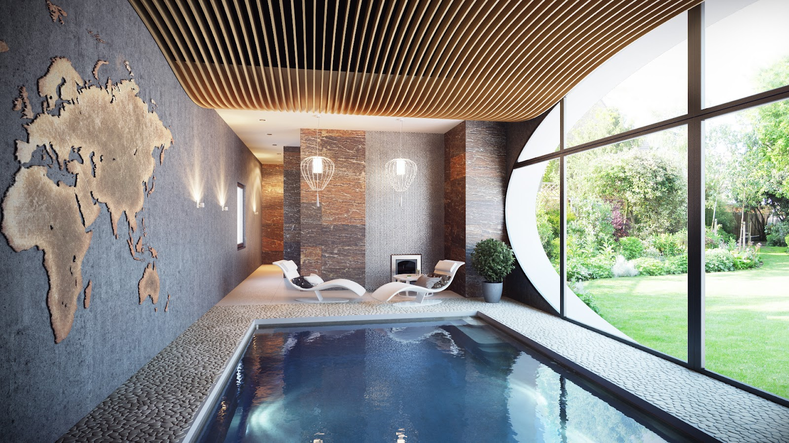 Indoor swimming pool interior design ideas for Hotel avec piscine interieur