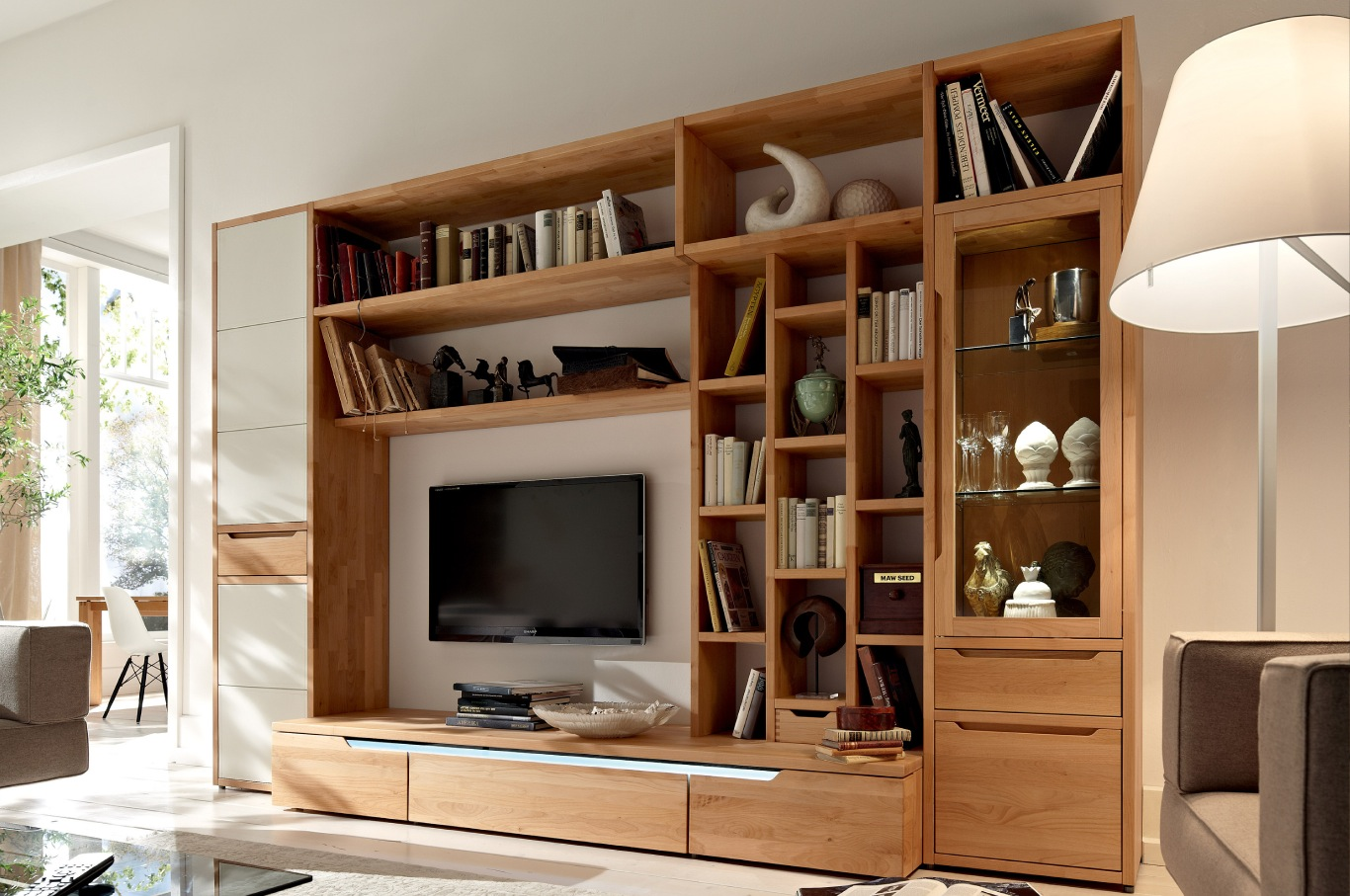 Wooden Wall Unit Wooden Finish Wall Unit Combinations From Hülsta