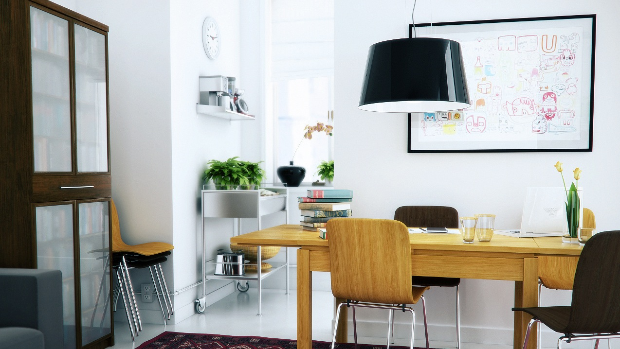 A dozen home workspaces for Office dining room ideas