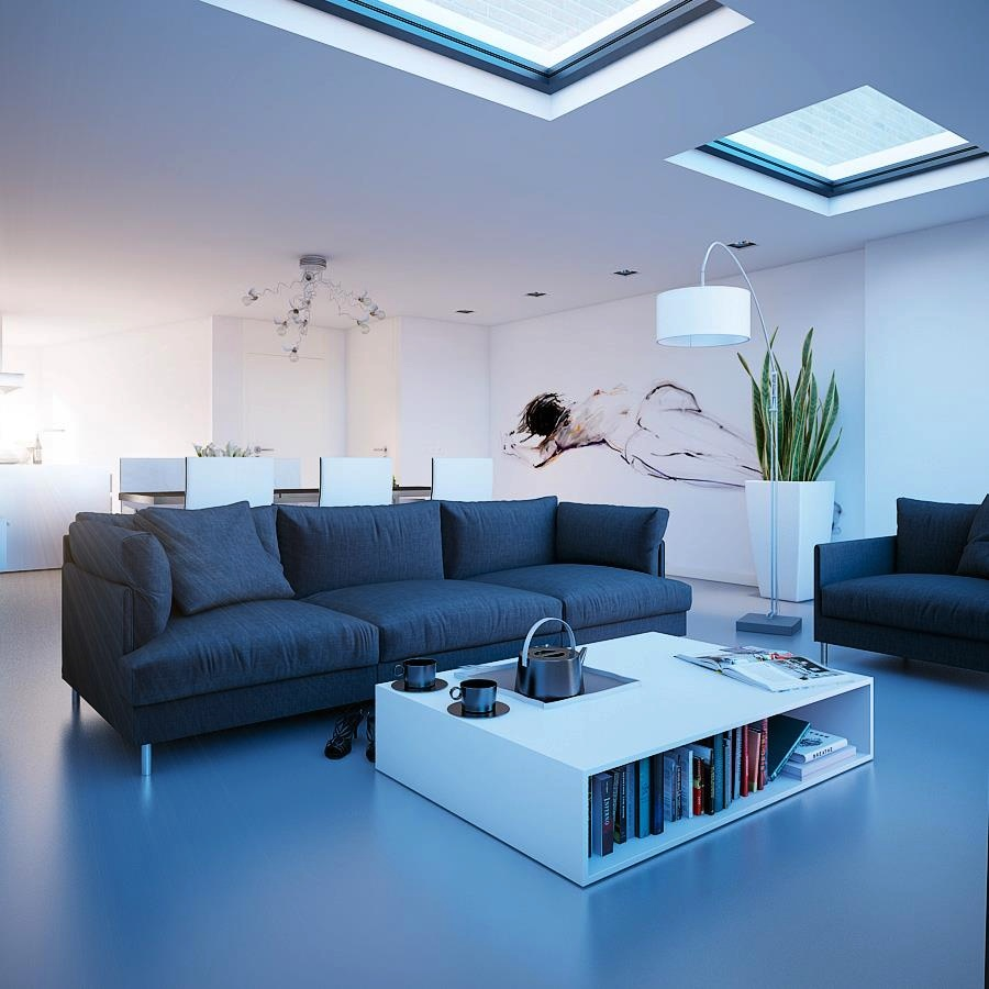Living rooms with skylights for Living room seats designs