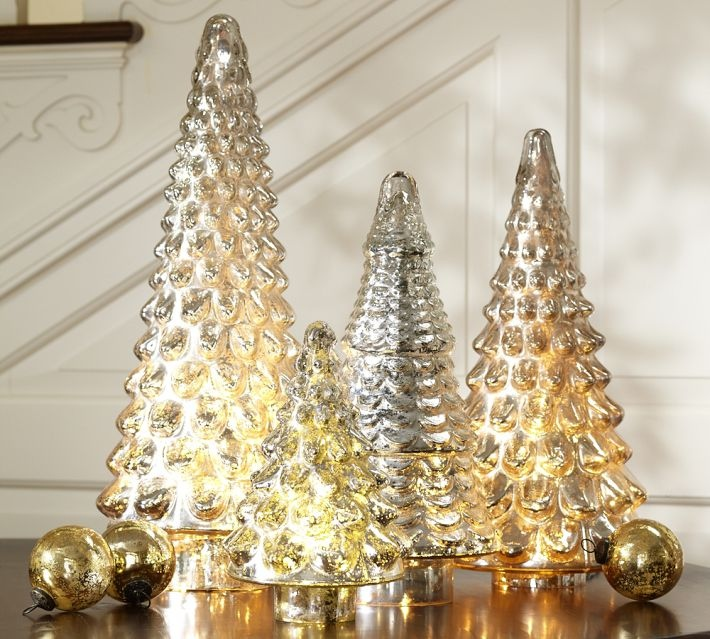 Silver Tabletop Christmas Tree