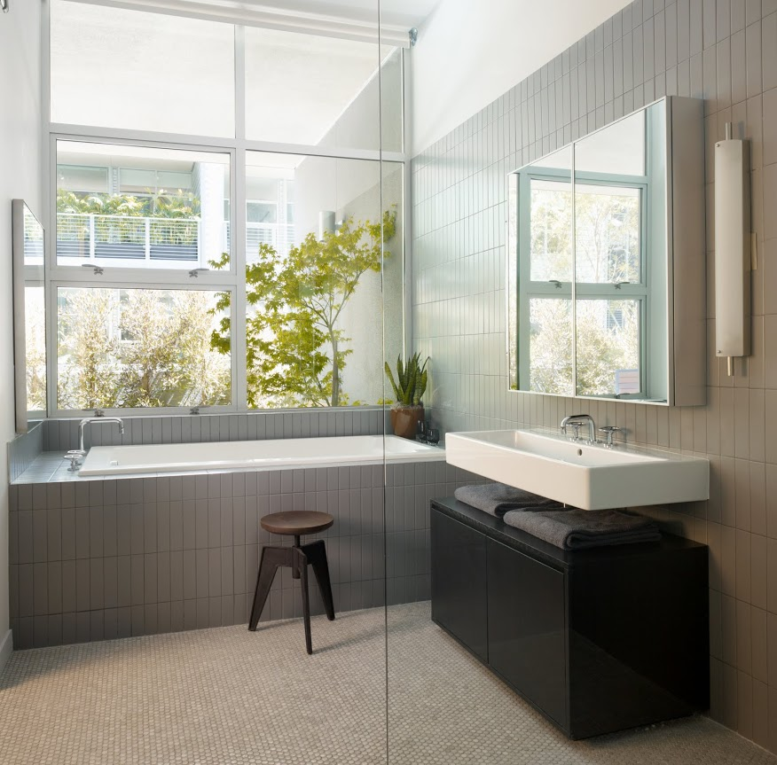 Modern bathroom grey interior design ideas Bathroom design ideas gray