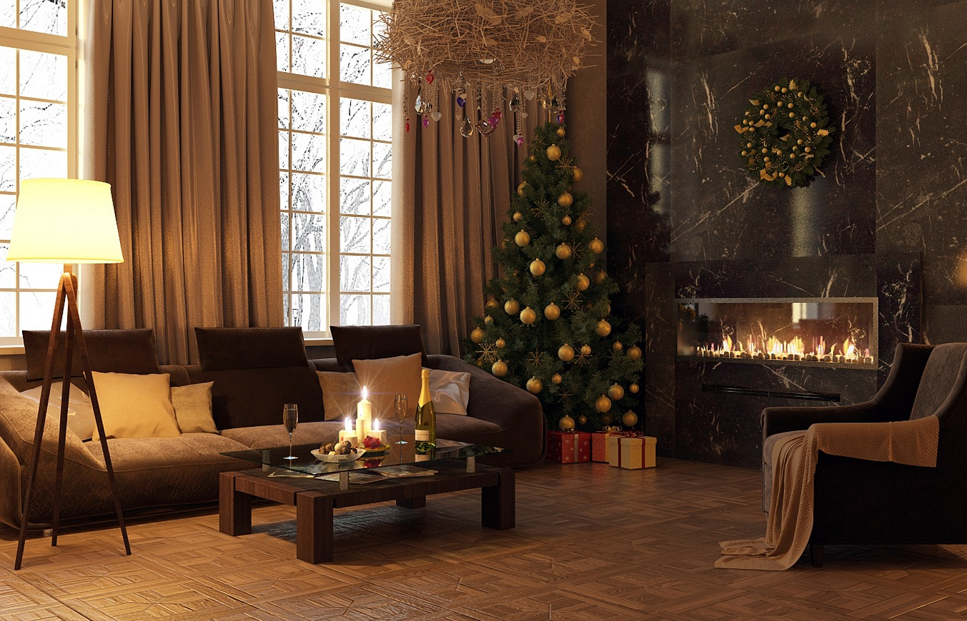 indoor decor ways to make your home festive during the holidays - Christmas House Decoration Ideas