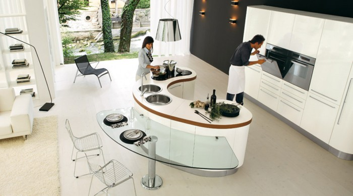 modern kitchen island