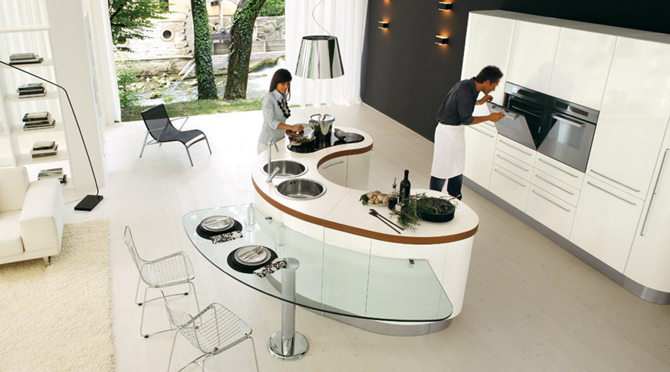 Modern Curved Kitchen Island 20 kitchen island designs