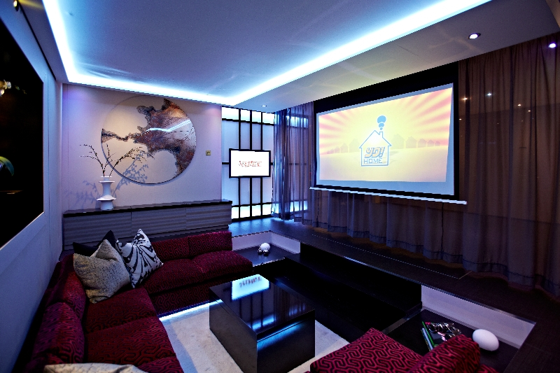 Modern media room interior design ideas for House plans with media room