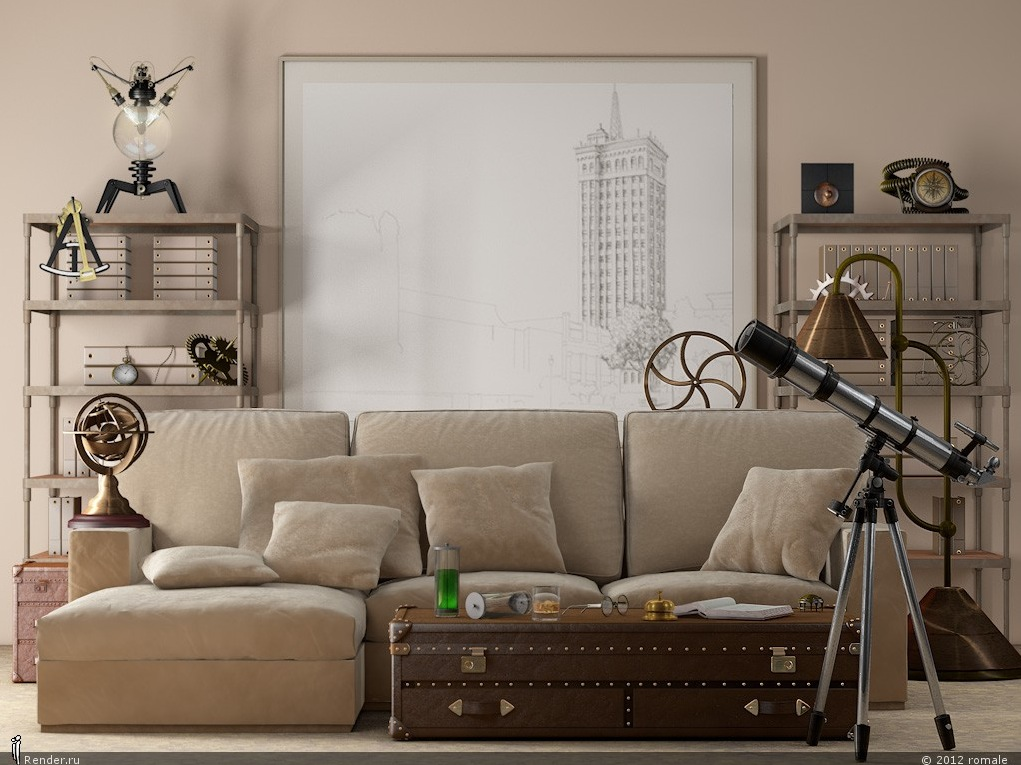 Neutral Beige Velvet Sofa - Light filled contemporary living rooms