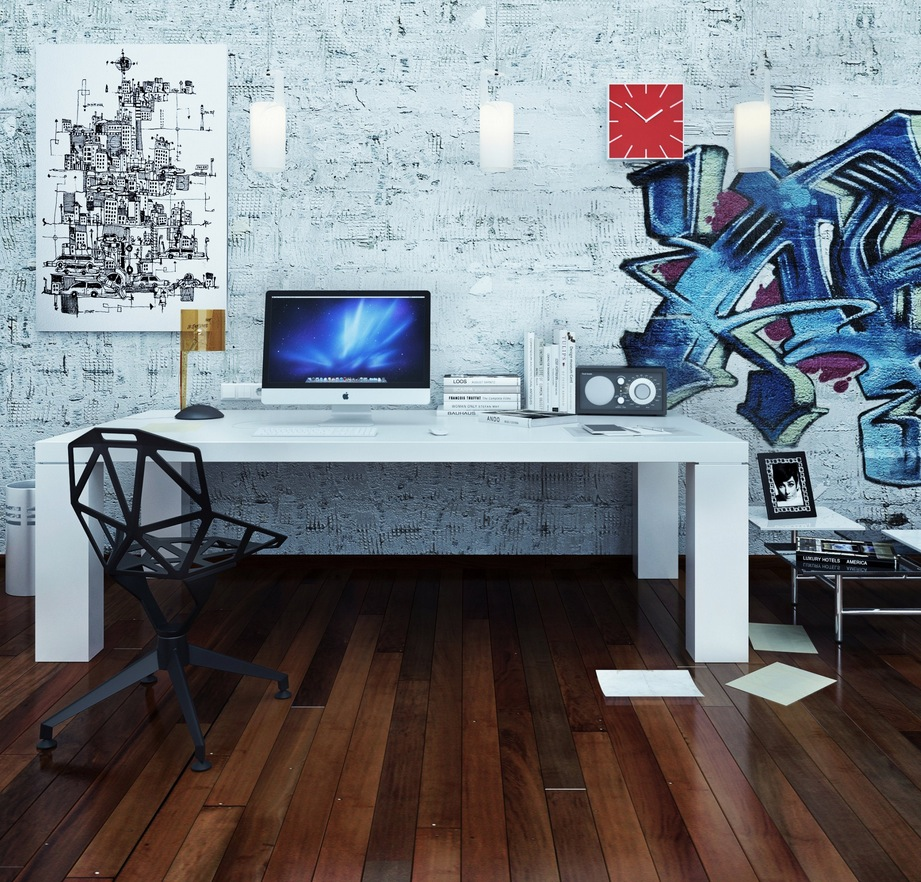 Pop art decor interior design ideas Computer office interior design