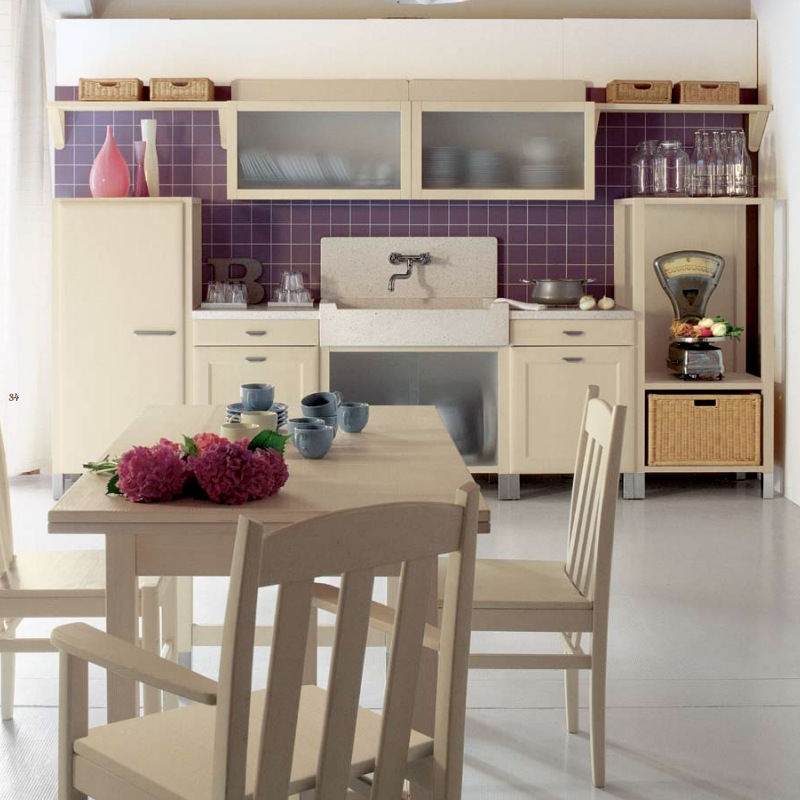 Beautiful Country Kitchen Pictures Photos And Images For Facebook Tumblr Pinterest And Twitter: Purple Tile Accents In Country Kitchen